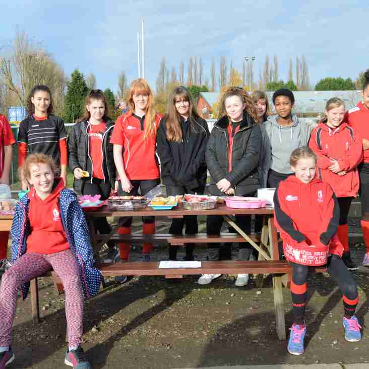 Girls raise money with Cake Sale