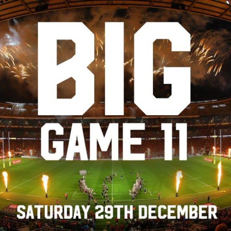 Big Game 11 - Tickets now available to purchase through the website