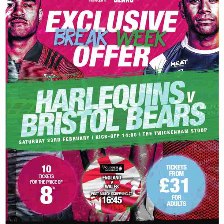 Harlequins Community Ticket Offer