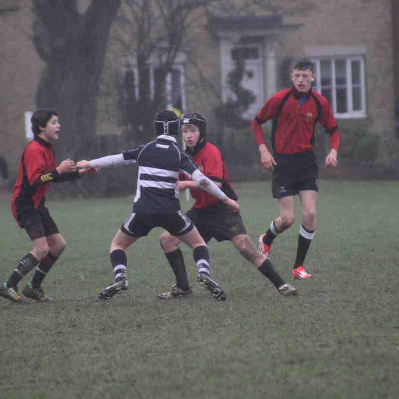 Colchester Under 14's B Team V Felixstowe. 31st January 2016.