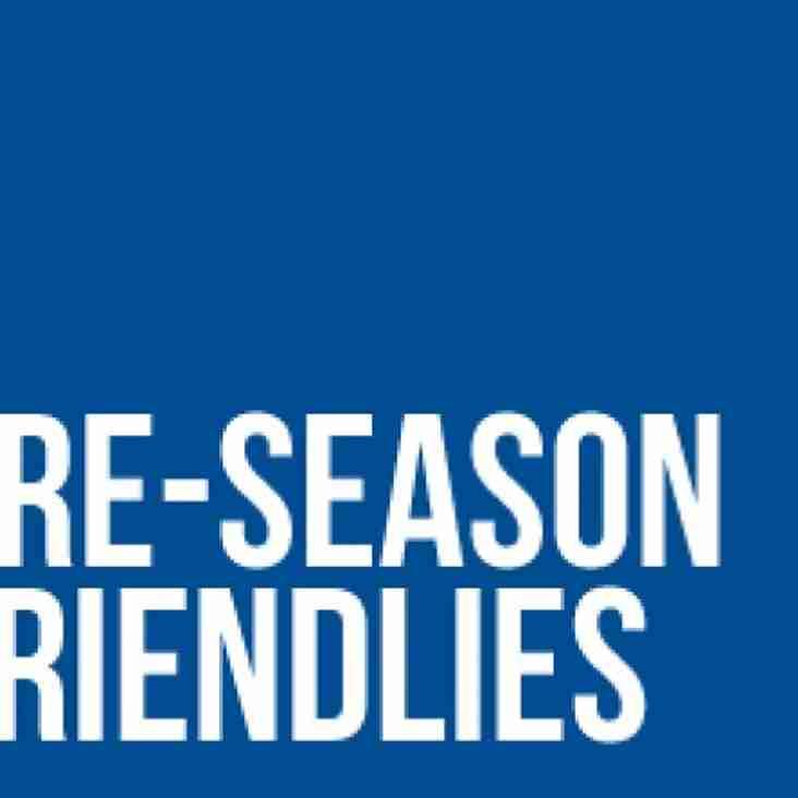 Corby Town pre-season fixtures