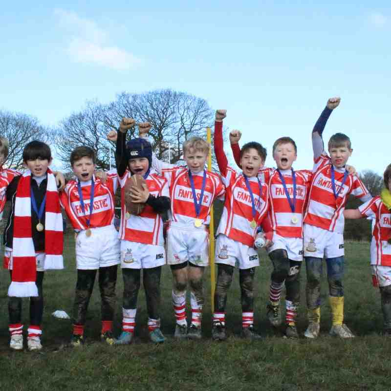 Wetherby RUFC U9s at Yarnbury Central District Festival