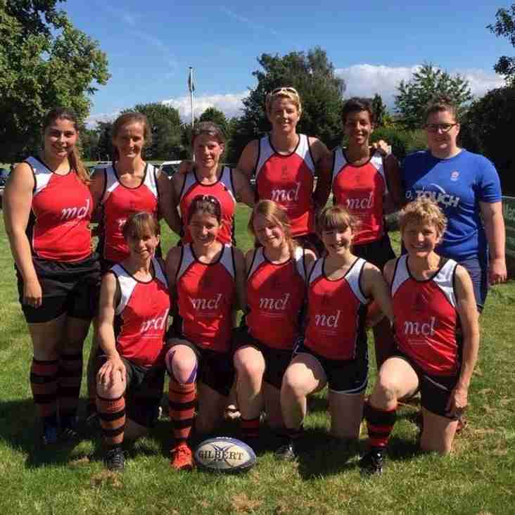 PERSHORE LADIES JOINT LEADERS FOR MIDLANDS TOUCH TITLE