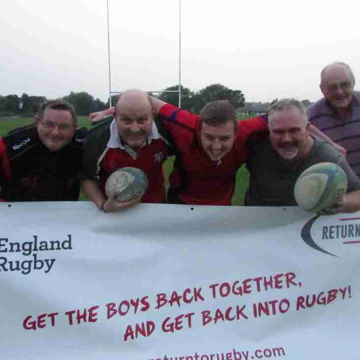 Return to Rugby is here at Pershore!