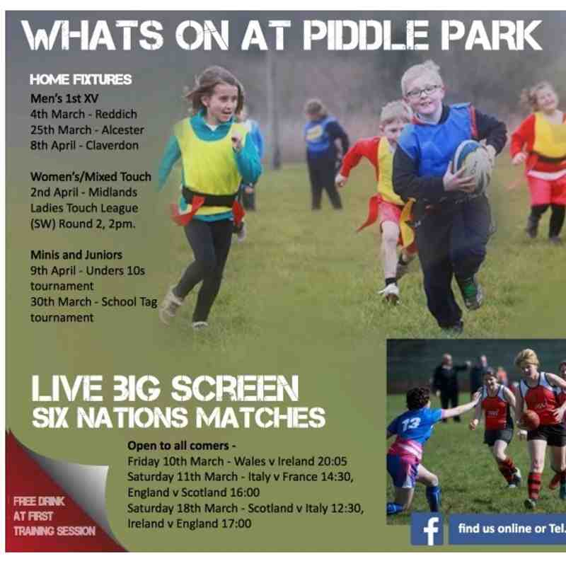 What's on at Piddle Park?