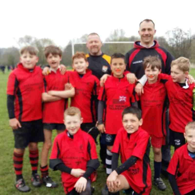 U10 Barbarians victorious at Ledbury 4-2018