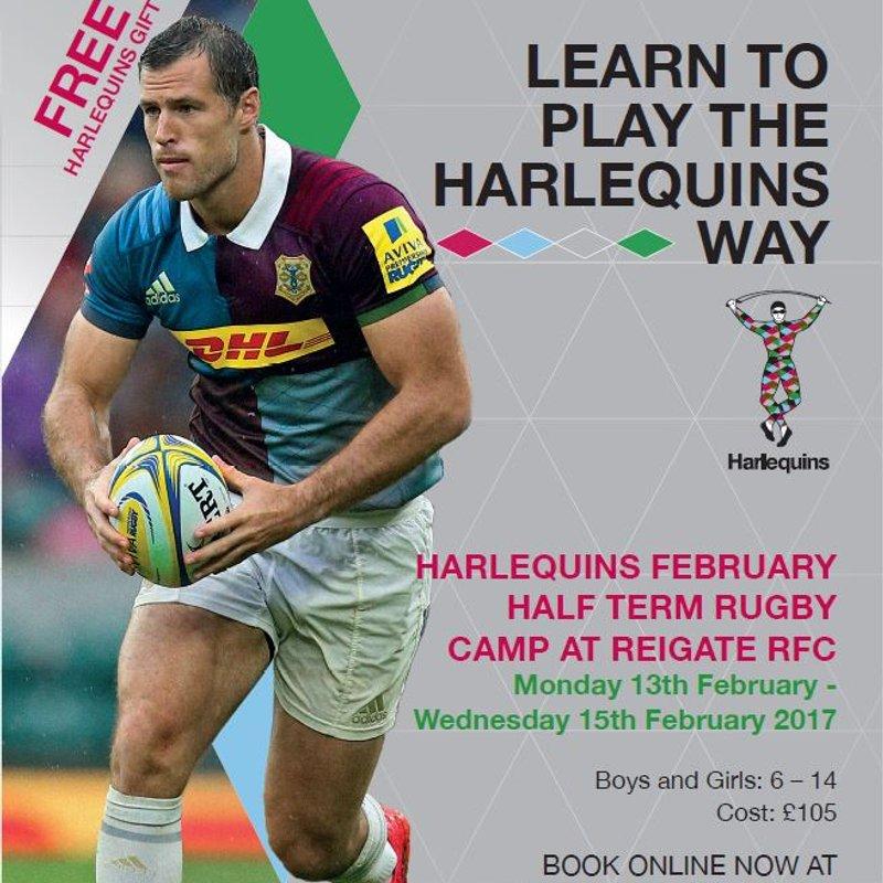 Harlequins Half Term Camp