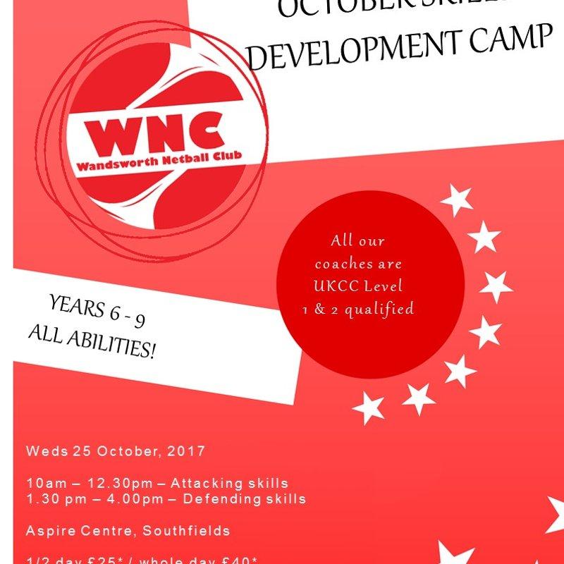 Wandsworth Juniors: October Netball Camps