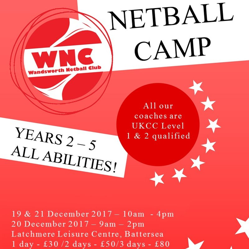 Wandsworth Juniors: December Netball Camp