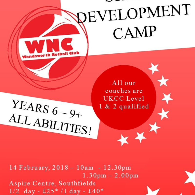 Wandsworth Junior February Skills Camp: Years 6-9+