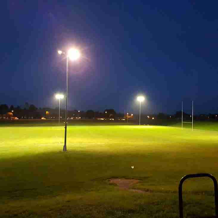 ORFC Floodlight Renovation - Works Completed