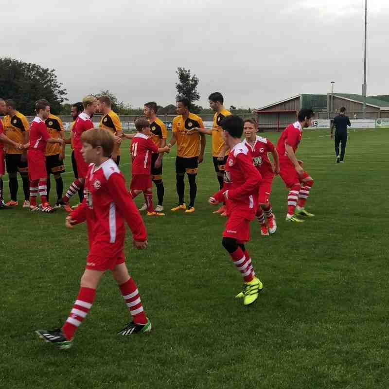 Mascotts for Haverhill Rovers FC v Stanway Rovers