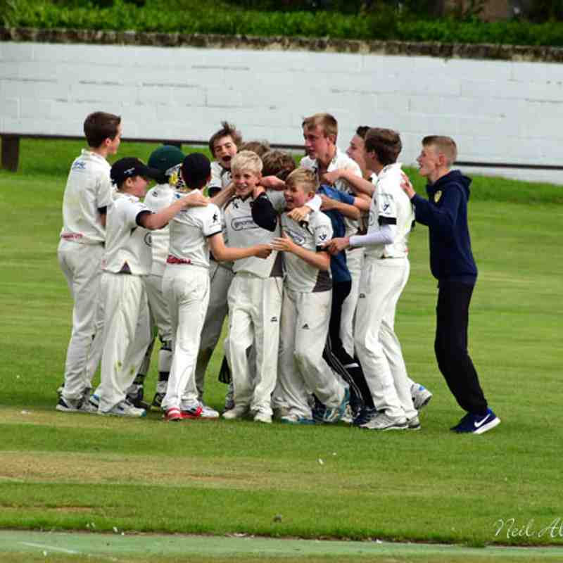 Under 13s beat Great Horton Church to win the cup at Baildon cc 6/8/2017