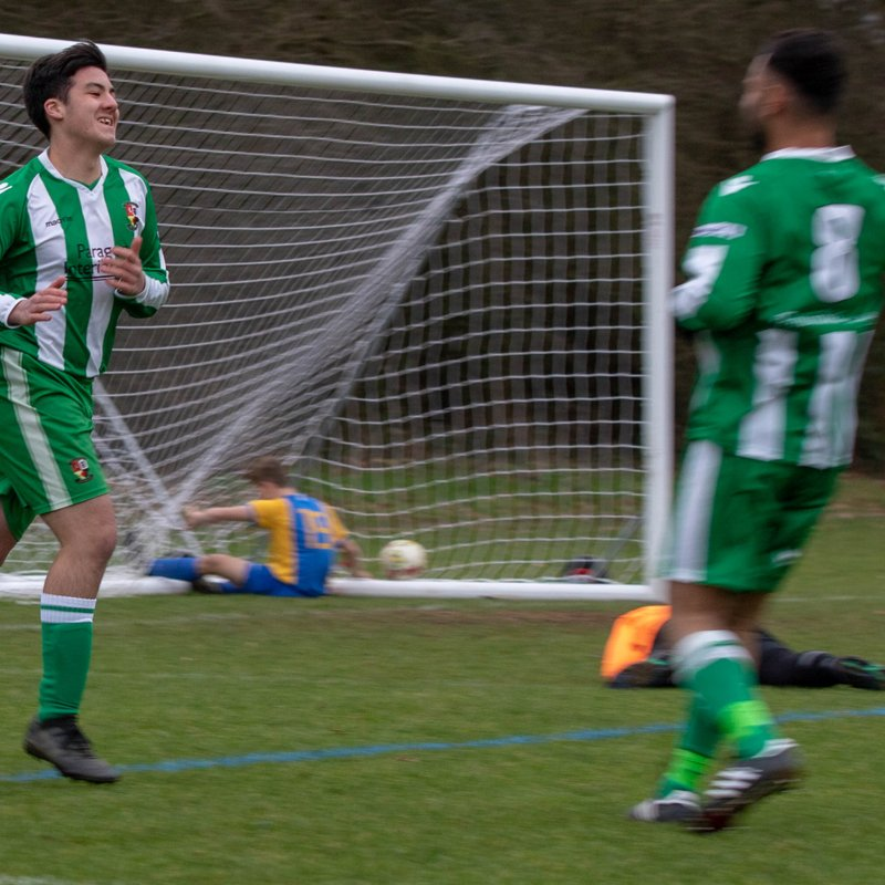 Gibson nets first Goals in Mens Football to seal win.