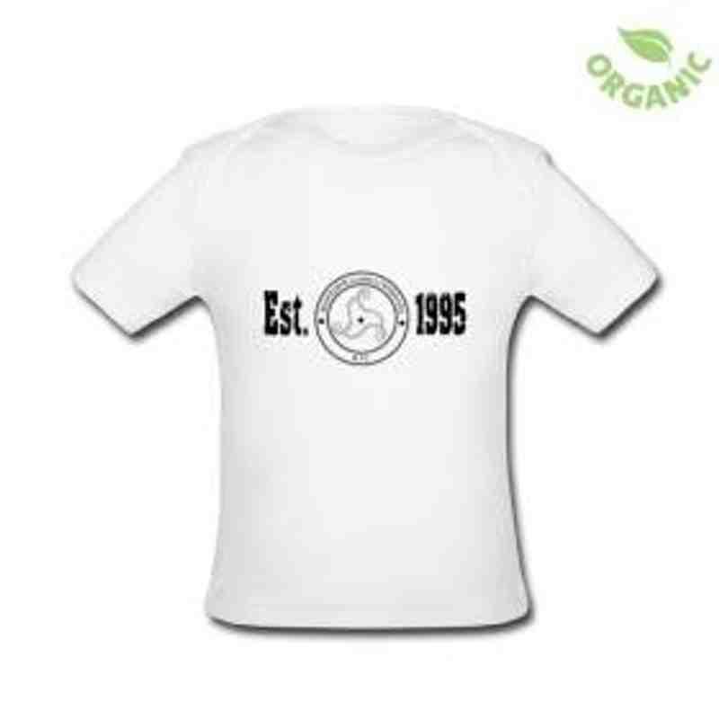 'est logo' baby t shirt