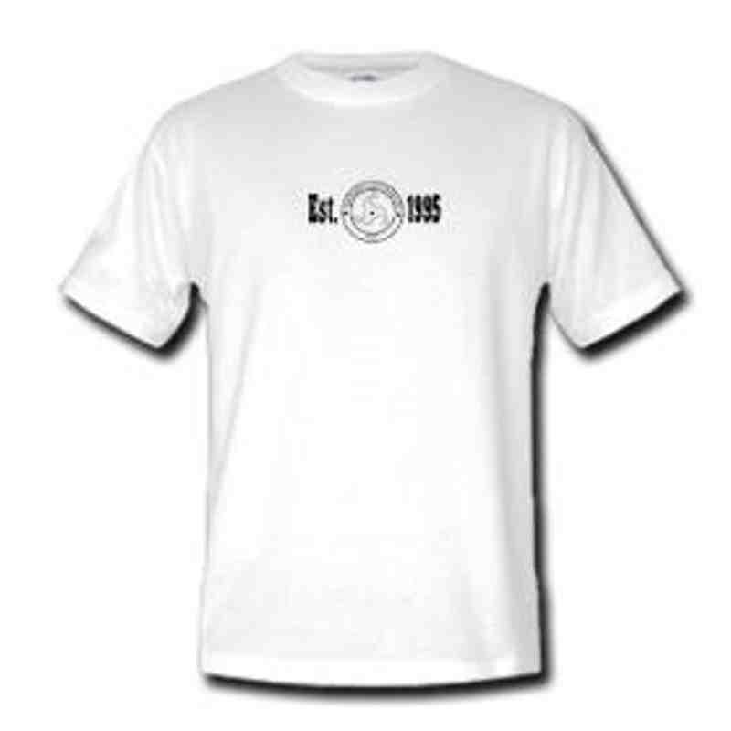 'est 95' logo classic t shirt