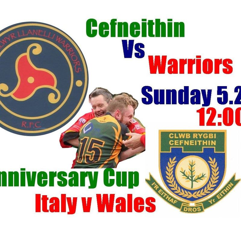 Wonder weekend for Warriors who win Anniversary Cup at Cefneithin.