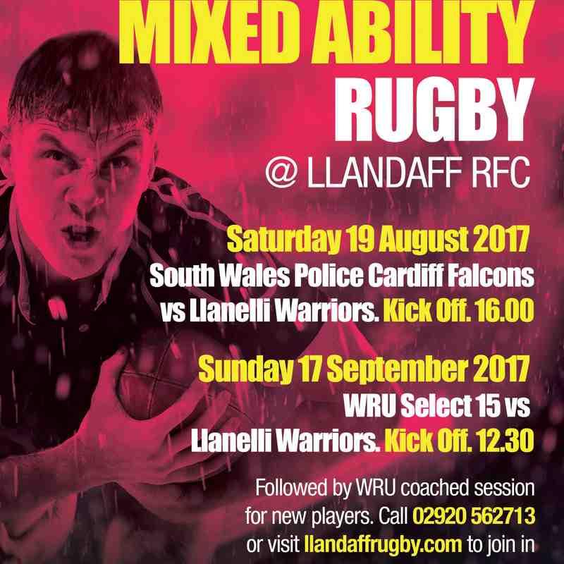 Llanelli Warriors v WRU Select XV Sept 2017