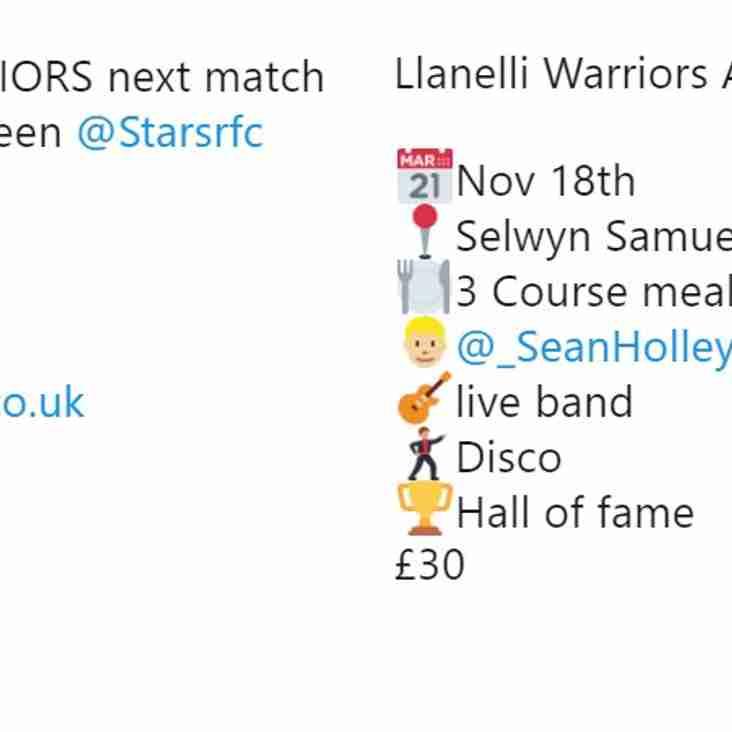 Llanelli Warriors MASSIVE news round up