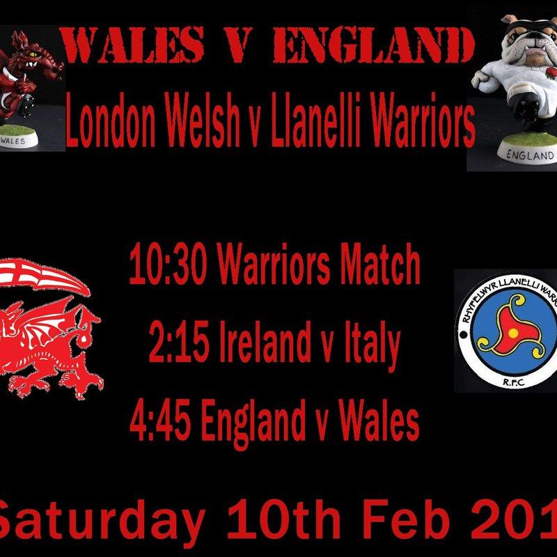 London Welsh Tour Sunday 11.2.18