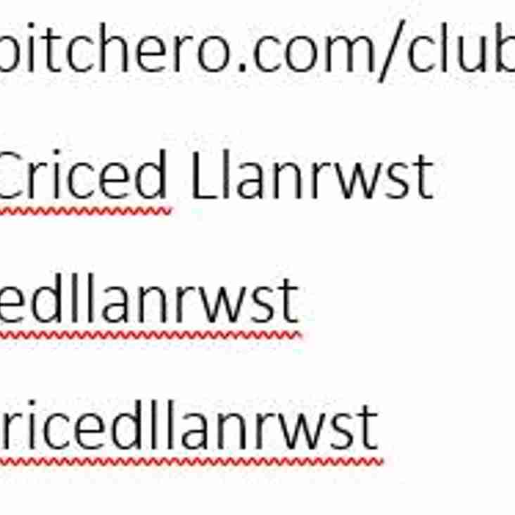 Follow Llanrwst cricket club on social media