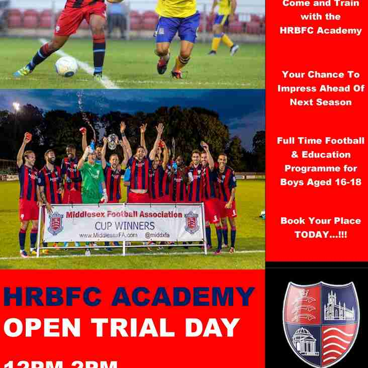 HRBFC Academy 'Open Trial Day'