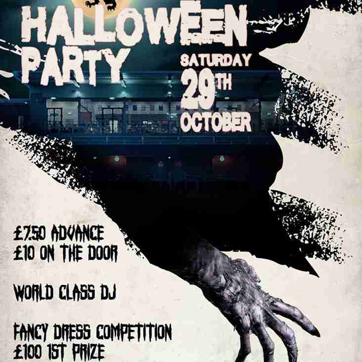 HALLOWEEN PARTY SATURDAY 29TH OCTOBER