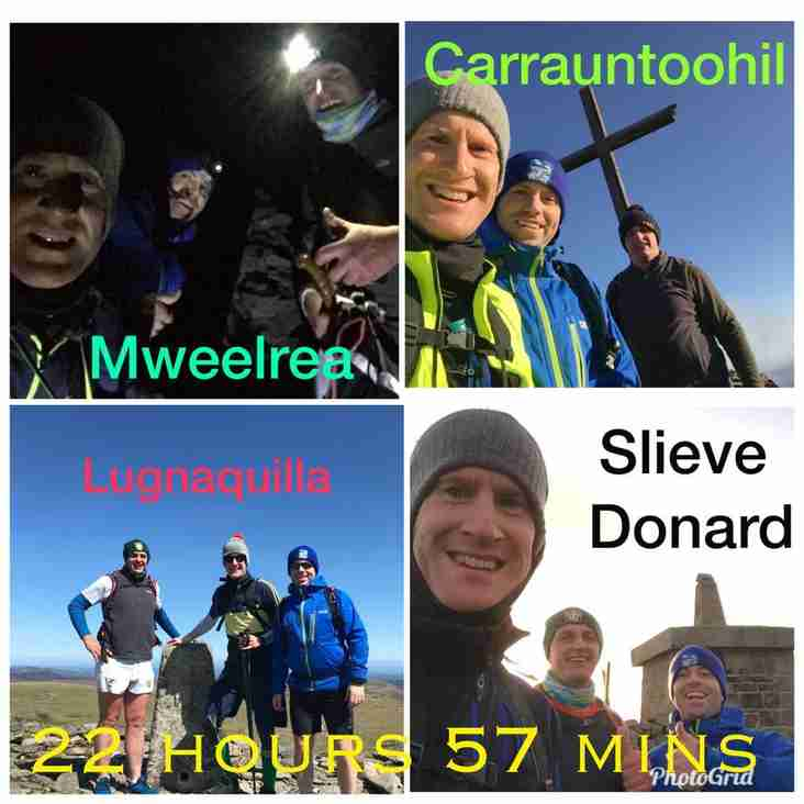 Joe, Morgan and Richard conquer 4 peaks in 24 hours