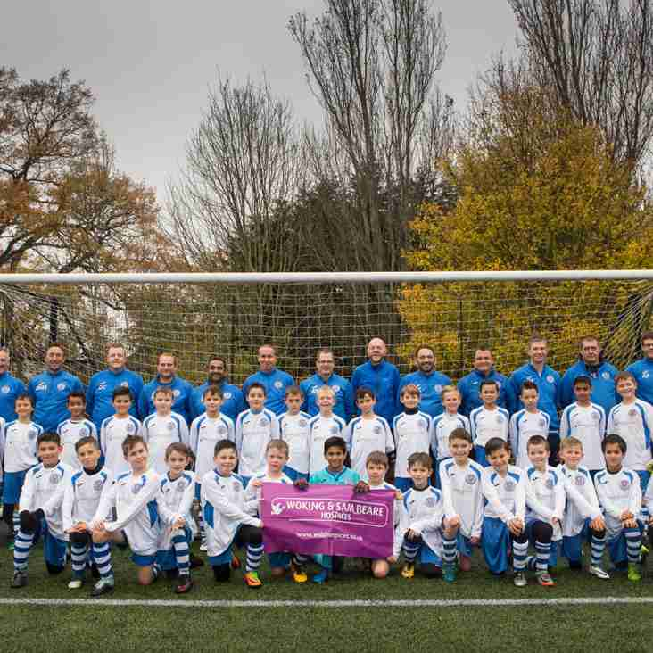 Under-9 boys strike new partnership with Woking & Sam Beare Hospice