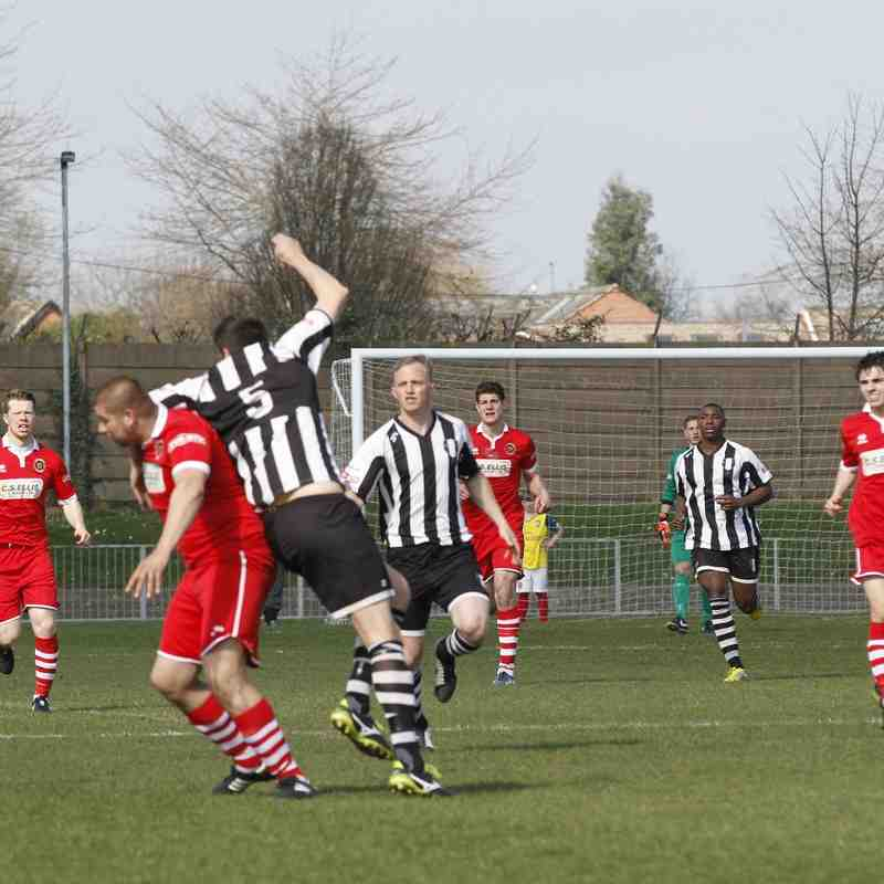 Grantham Town Away - 6th April - Photo's courtesy of Geoff Atton