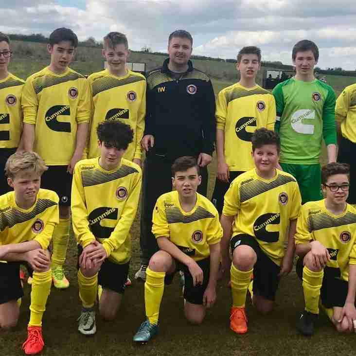 Stamford Yellows Under 14's League Success
