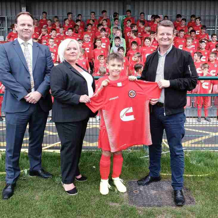 Cummins Technologies continues commitment to  Stamford AFC as Community Partner