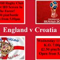 England v Croatia K.O. 7.00pm club open at 5.00pm