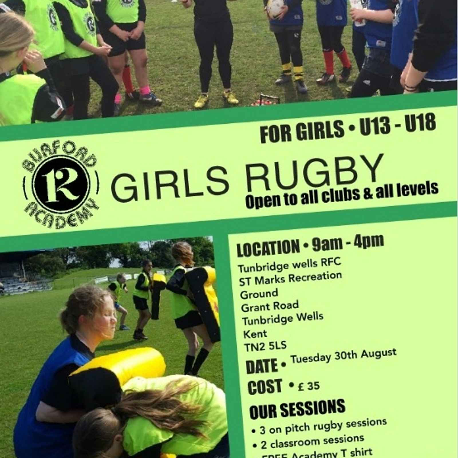 TWRFC Ladies to host World Cup Winner's Girls Rugby Camp