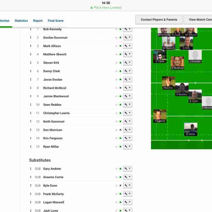 Marr 2nd XV vs Aberdeen Grammar - Team News