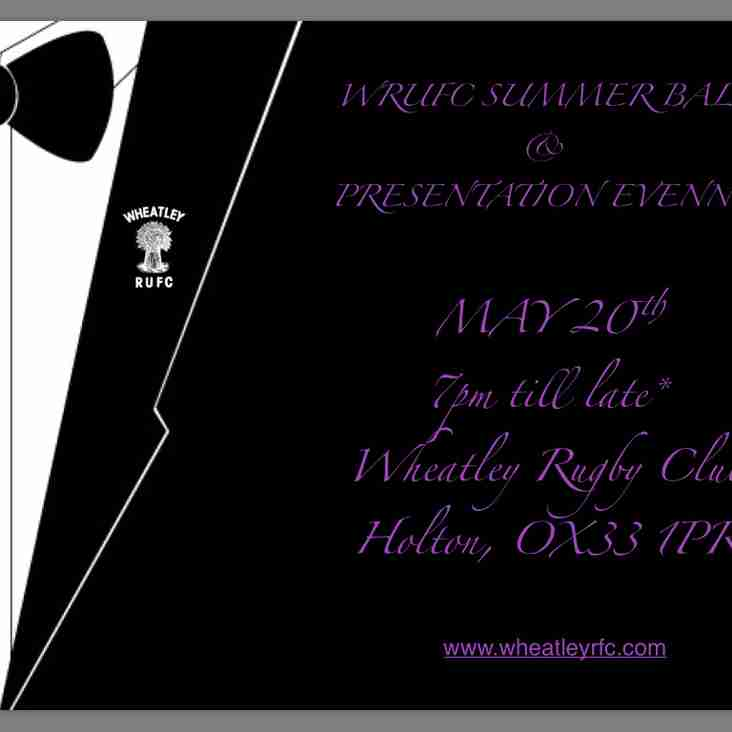 WRUFC Summer Ball and Presentations