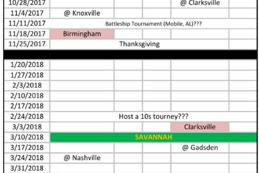 2017/18 Schedule