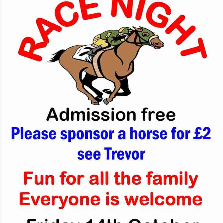 RACE NIGHT - TOMORROW Night (Friday) - #SUPPORTUSSUPPORTTHECLUB