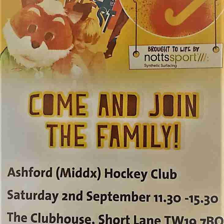 Club Day/Hockey Fest Saturday 2nd September 2017