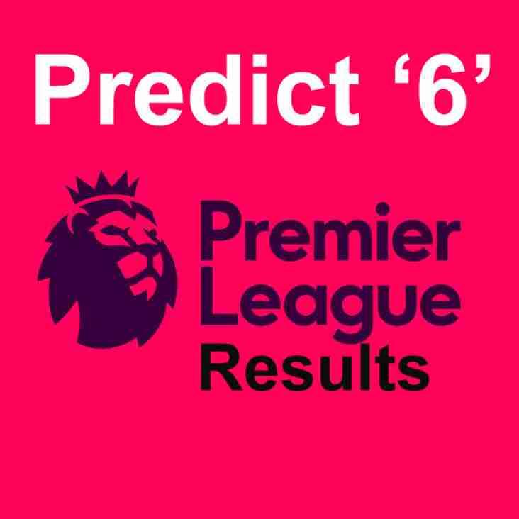 Predict 6 Premier League results and win the current Predict '6' Pot