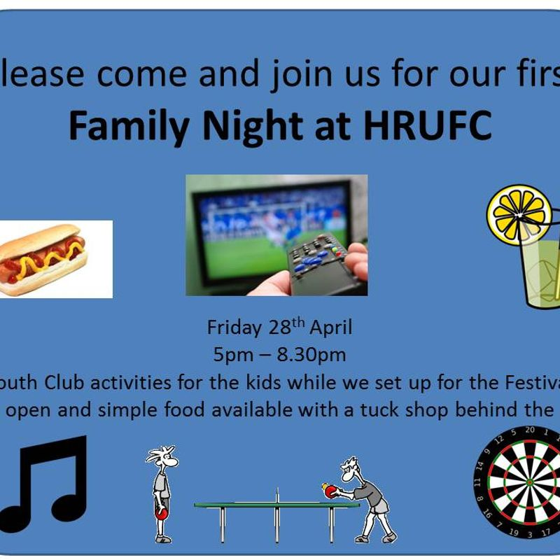 Family Night at HRUFC