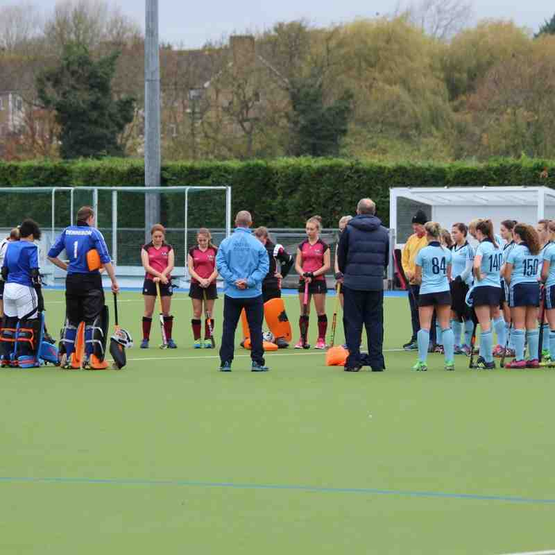 Girls U18 Prem vs Oxford Hawkes 8 Nov 2015, lost 3-4