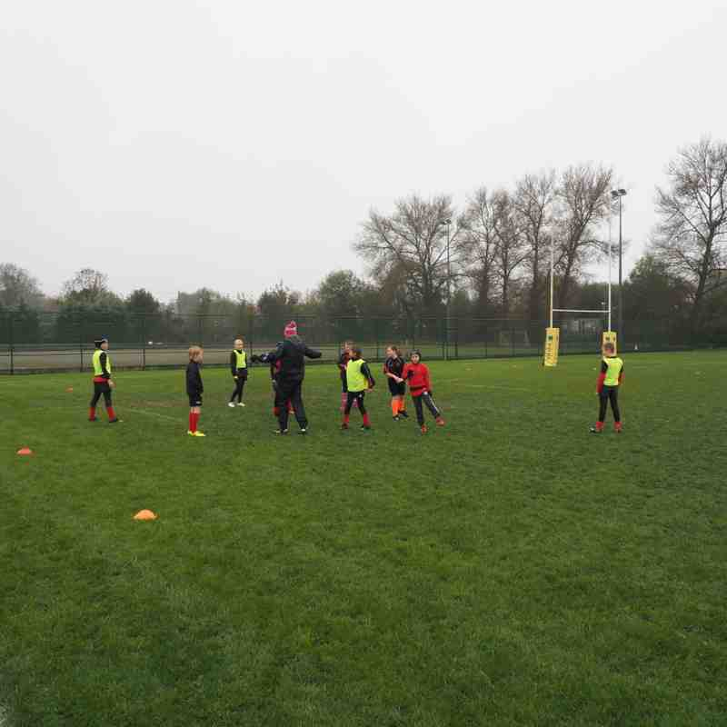 U10's at Tigers training camp Sat Nov 12th '16