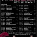 Titans Fixtures 2016/17 Season