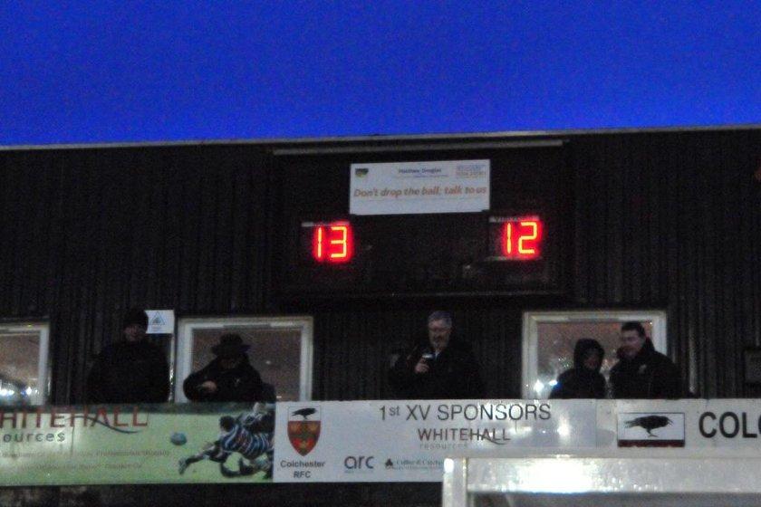 Colchester 1st XV vs Chingford RFC