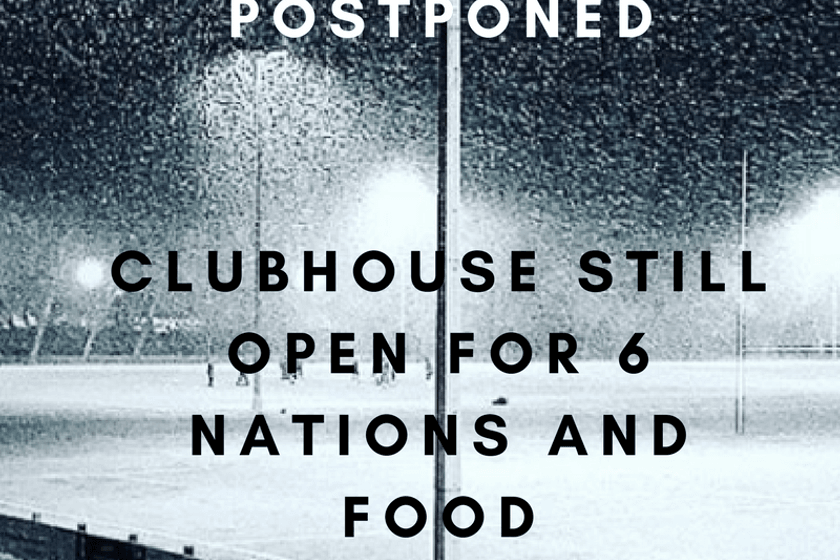 ALL HOME GAMES POSTPONED 17TH MARCH