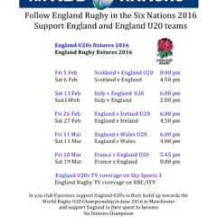 FOLLOW ALL THE SIX NATIONS MATCHES- U20S & SENIORS ON OUR SCREENS