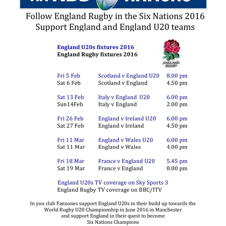 FOLLOW ALL THE SIX NATIONS MATCHES- U20S &amp; SENIORS ON OUR SCREENS <