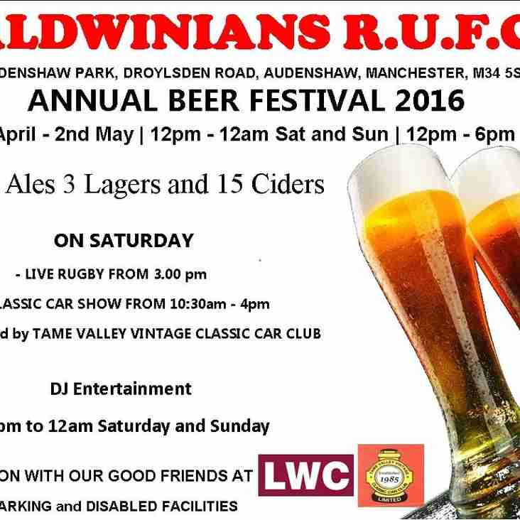 BRILLIANT FIRST TWO DAYS AT BEER FESTIVAL-COME DOWN TODAY, BANK HOLIDAY MONDAY!