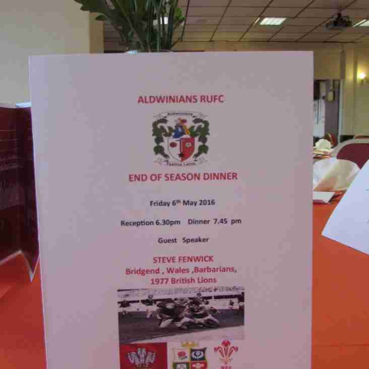 ENTERTAINING EVENING AT  END OF SEASON DINNER